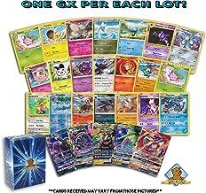 Pokemon 100 Card Lot with Bonus 5 Rares 3 Foils 1 Holo Rare 1 GX Ultra Rare! Includes Golden Groundhog Box!
