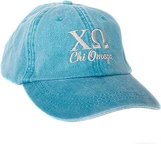 Chi Omega (S) Sorority Embroidered Baseball Hat Cap Cursive Name Font chi o