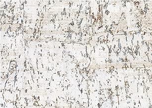York Wallcoverings CX1200 Candice Olson Dimensional Surfaces Cork on Metallic Wallpaper, White/Silver Metallic