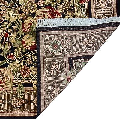 Noori Rug Pak-Persian Reshami Rumal Area Rug, Black