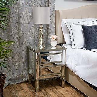 Amazon.com: Glass - Nightstands / Bedroom Furniture: Home ...