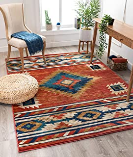 Well Woven Lizette Red Traditional Medallion Area Rug 5x7 (5'3