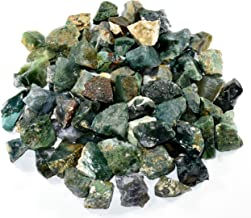 Natural Green Moss Agate Rough Stones Gemstone Crystal Mineral Cabochons Rock Specimen Cabs from India (10PCS)