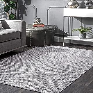 nuLOOM Lorretta Hand Loomed Area Rug, 6' x 9', Grey
