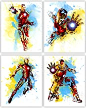 Iron Man Wall Decor Collection - The Great Marvel Avenger in Our Wall Art Movie Poster Series - Set of 4 8x10 Photos