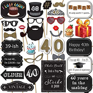 Best 40 birthday photo booth props Reviews