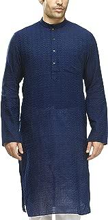 Manyavar Men's Full Sleeve Regular Fit Banded Collar Kurta