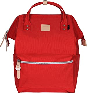 Himawari Polyester Laptop Daypack Vintage School Bag Fits 15-inch Laptop Scarlet & Plus