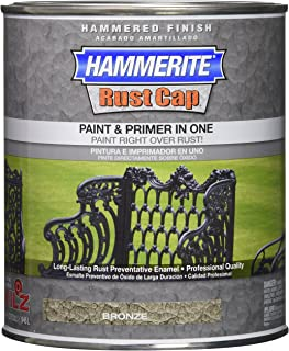 Masterchem 43185 Hammerite Rust Cap Hammered Bronze Enamel Paint, Quart