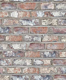 EW3103 - Urban Living Grey & Terracotta Bricks, Brick Wall Galerie Wallpaper