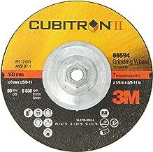 3M Cubitron II Depressed Center Grinding Wheel T27 Quick Change, Ceramic Grain, 7