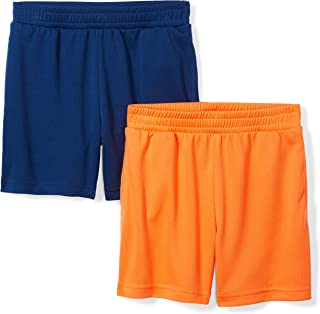 Amazon Brand - Spotted Zebra Boys' Toddler & Kids 2-Pack Active Mesh Shorts