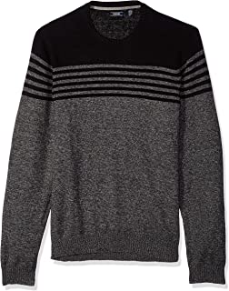 IZOD Men's Big and Tall Newport Stripe 7 Gauge Crewneck Sweater