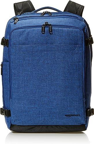 AmazonBasics Slim Carry On Laptop Travel Weekender Backpack - Blue