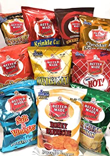 Better Made Potato Chips Detroit, 10 Bag Variety Pack, 2oz