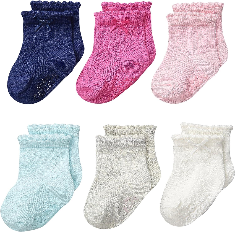 Carter's baby-girls Newborn Pointelle Socks (Pack of 6)
