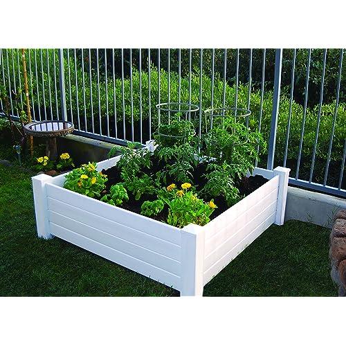 on raised planter bo along fence backyard ideas las vegas