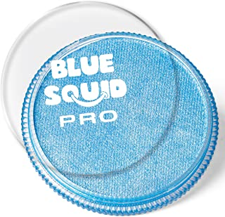 Blue Squid Pro Face Paint – Metallic Blue (30gm) Superior Quality Professional Water Based Single Cake, Face & Body Makeup Supplies for Adults, Kids & SFX