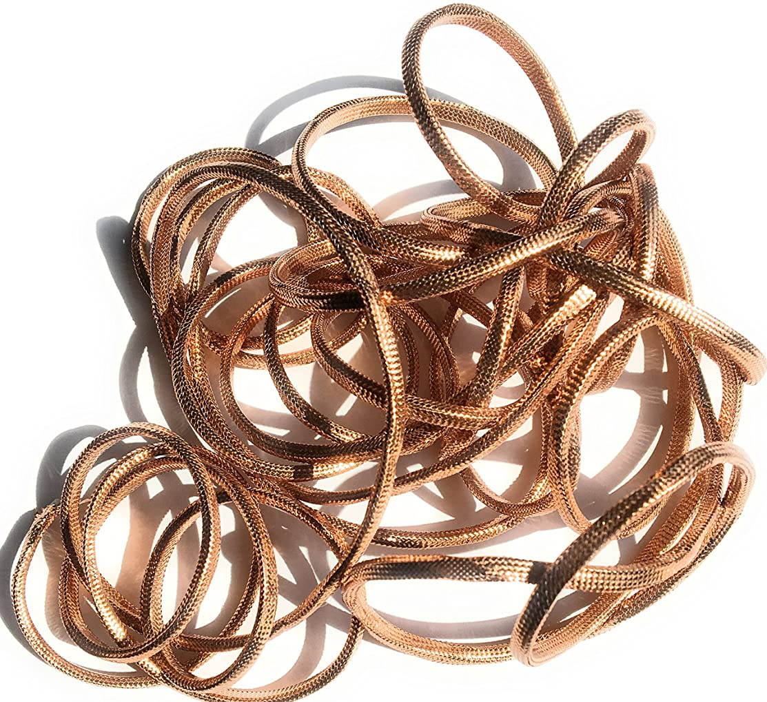 Copper Metallic Square Cord 5 Yards 1/8