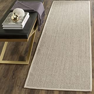 Safavieh Natural Fiber Collection NF143C Marble and Beige Sisal Area Rug (2'6