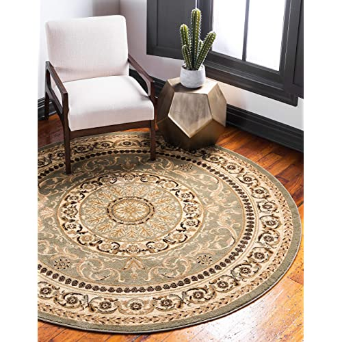Round Green Area Rugs.Green 8 Ft Round Rug Amazon Com