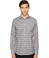 Slim Fit Tiger Print Shirt