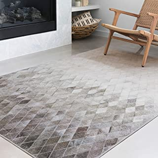 Loloi II AD-04 Maddox Collection Faux Cowhide Patchwork Print Area Rug, 7'-6