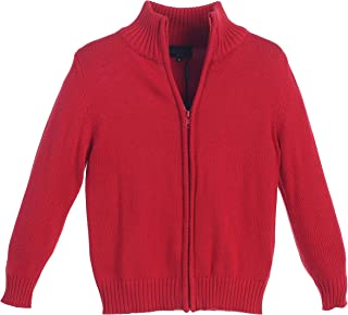 Boy's Knitted Full Zip 100% Cotton Cardigan Sweater