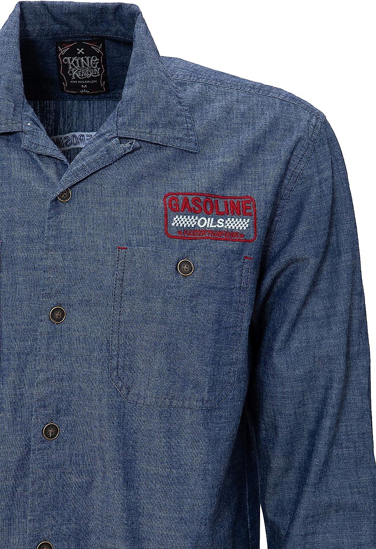 King Kerosin Motor Way Camisa para Hombre: Amazon.es: Ropa