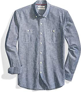 Amazon Brand - Goodthreads Men's Standard-Fit Long-Sleeve Chambray Shirt