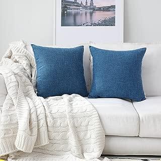 Kevin Textile Faux Linen Home Decorative Hand Made Cushion Cover Pillowcase, Hidden Zipper, 22