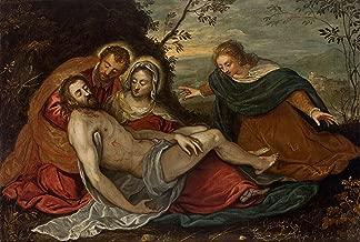A Lamentação sobre o Cristo Morto Pietà Pintura de Tintoretto na Tela em Vários Tamanhos (55 cm X 37 cm tamanho da imagem)