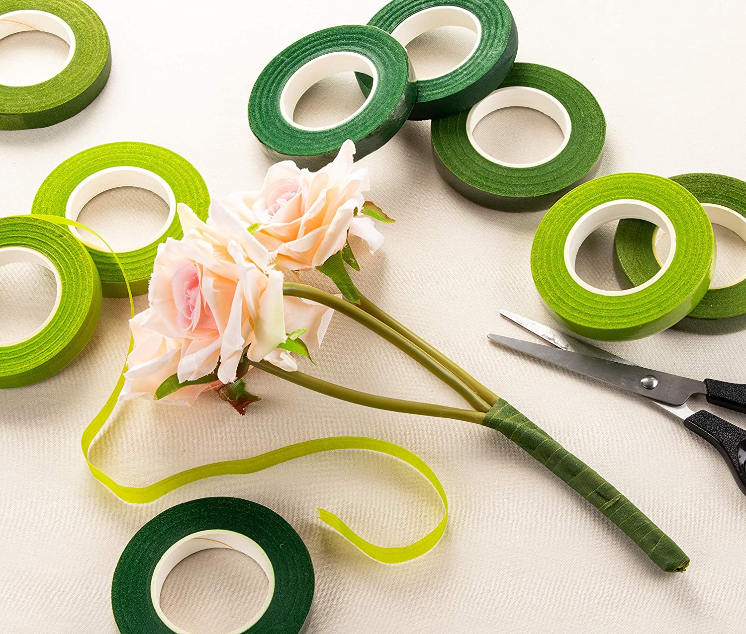 Craft Supplies 12 Rolls Floral Tapes Flower Adhesives for Stem ...