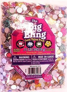 Darice 1078-24 Big Bling Flowers and Round Gem Value Pack Rhinestones, Multicolor