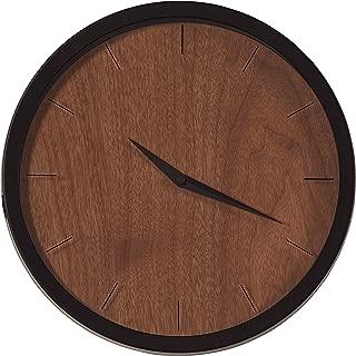 Rivet Modern Minamalist Wood-Face Clock, 12