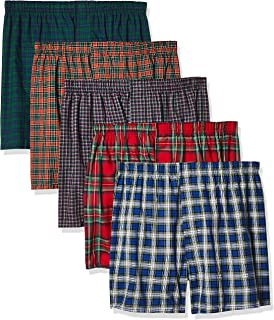 mens 5-pack Tartan Boxer With Inside Exposed Waistband