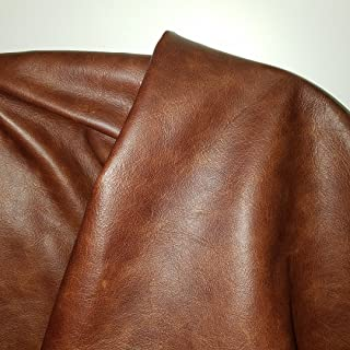 NAT Leathers Brown Tan Cognac 22 to 24 Square Feet (22-24 Sq.ft (32
