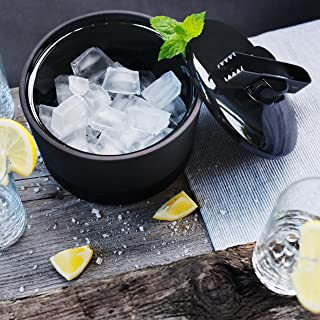 Magisso Naturally Cooling Ceramic Ice Bucket with Tongs #70608