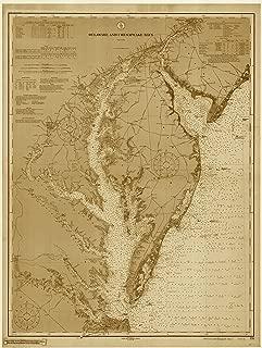 Chesapeake Bay & Delaware Bay Historical Map 1912 (24