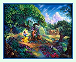 Treasure Chest Shoppe Snow White Hard to Find Double Matted Fine Art Walt Disney Print 11 X14 Large 8x10 Image