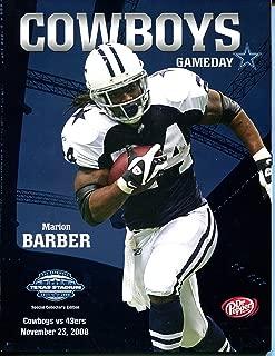 Dallas Cowboys vs. San Francisco 49ers Gameday Program November 23, 2008 Marion Barber