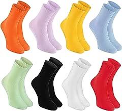 Ragazza Ragazzo Calzettoni al Ginocchio Antiscivolo di Cotone Rainbow Socks