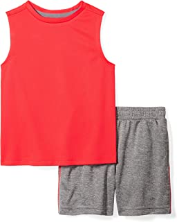 Spotted Zebra Amazon Brand Boys' Big Kid Active Tank and Shorts Set