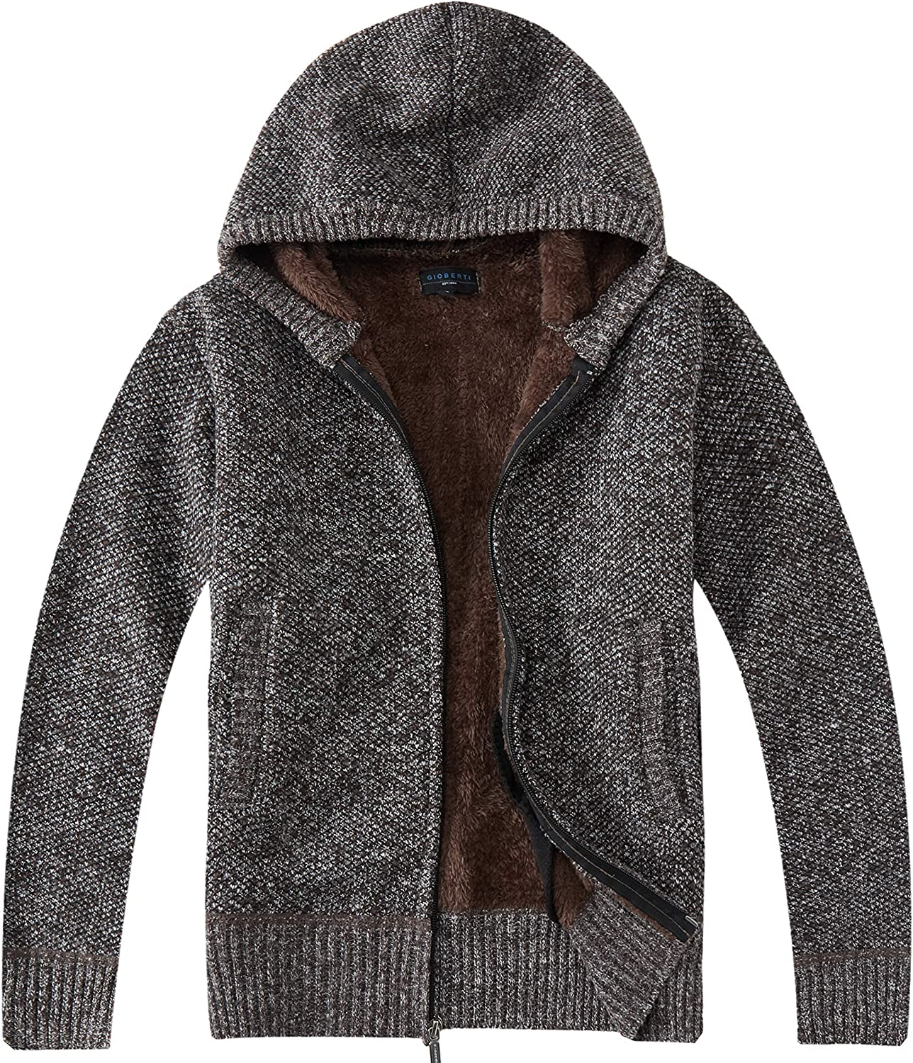 Gioberti Boy's Full Zip Knitted Indianapolis Mall Cardigan Sweater Hoody Louisville-Jefferson County Mall and with