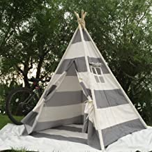 Pericross Kids Teepee Tent Indian Play Tent Children's Playhouse for Outdoor and Indoor Play