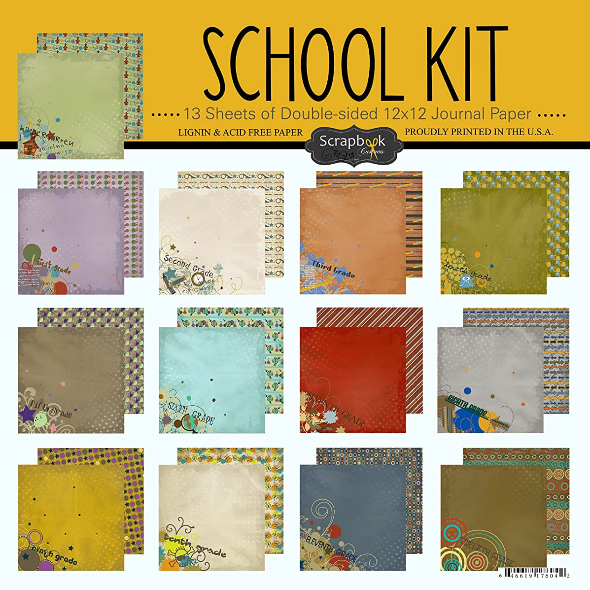 Scrapbook Customs School Scrapbook Kit