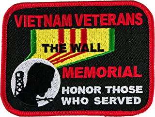 Vietnam Veterans Memorial Honor Those Who Served 4 inch Iron or Sew on Biker Back Patch