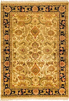 Safavieh Jaipur Collection JAP252C Beige and Black Premium Wool (8' x 11') Area Rug