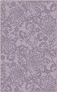 Brumlow Mills Jacobean Floral In Lavender Purple Traditional Area Rug, 2'6