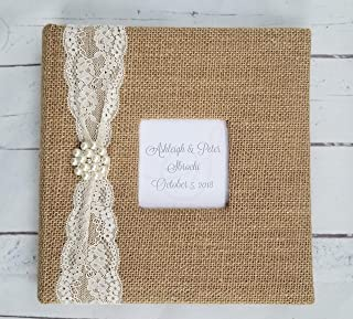 Custom Lace & Pearl Photo Album - Holds 160 4x6